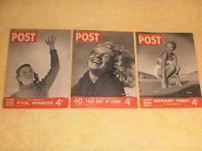 3 x Rare Picture Post Marilyn Monroe cover 1947 1949 Norma Jeane Mortenson Baker