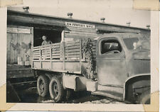 1940s US Army  Ft Richardson, Alaska Photo #1 QM Property WHSE, stake bed truck