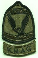 KOREA MILITARY ADVISORY GROUP PATCH & SEPERATE KMAG ROCKER TAB OD Subdued