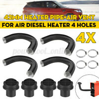 4x 42mm Heater Duct Pipe Tube+ Air Vent For Air Diesel Heater 4 Holes Car Truck
