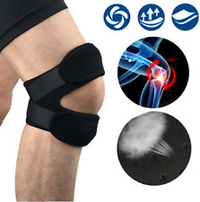 Neoprene Adjustable Open Knee Patella Tendon Support Brace Gym Protector Black