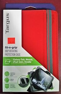 """Targus Fit-N-Grip 360 Rotating Protection Case - Fits most 7"""" - 8"""" Tablets"""