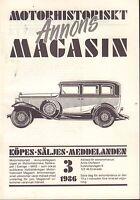Motorhistoriskt Magasin Annon Swedish Car Magazine 3 1986 Citreon 032717nonDBE