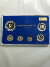 1981 Singapore 6 Coin 1 Cent-$1 Silver Proof Set Lot#B99 Scarce!