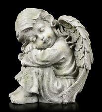 Engel Gartenfigur - Kind schlafend links - klein - Schutzengel Cherub Gartendeko