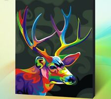 Diy Oil Painting Paint by Number Kit for Adult 16 20-Inch ( Deer ) 50cm x 40cm