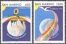 San Marino 1998 World Day of Sick/Health/Dove/Rainbow/Flower 2v set (n43700)