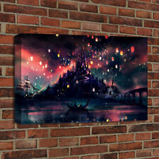 Oil Painting Print Canvas Home Wall Art Decorative Disney Tangled Lanter 16x24