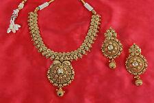 Ethnic Bollywood Indian Polki Kundan Necklace Earring Women Style Jewelry 1887