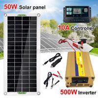 50W Solar Panel Kit Monocrystalline Boat Caravan Motorhome 12v 60A Controller