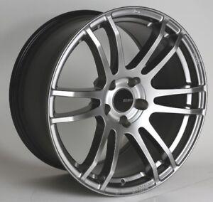 17x8/9 Enkei TSP6 5x114.3 +35 Silver Rims Fits Honda S2000 ap1 2000+