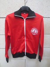 Veste JOINVILLE TRAINING années 80 rouge jacket oldschool nylon brillant 168 S