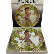 UNICEF ~ CHILDREN OF THE WORLD, CHILD OF INDIA PLATE HEINRICH VILLEROY & BOCH