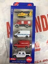 Siku 6289 Model Toy Rescue Vehicle Set Replica Diecast Ambulance Fire Police