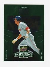 JASON BAY  OUTFIELD  BOSTON RED SOX   2010 UPPER DECK SUPREME BASEBALL S-8 GREEN