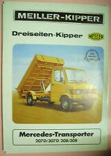 Sales Brochure altes Original Prospekt Meiller Dreiseiten-Kipper Mercedes Transp