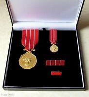 Canada CD Canadian Decoration Full Size - Miniature Medal +  Ribbon Bar + Pin