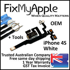 iPhone 4S OEM White Headphone Audio Jack Volume Flex Cable Replacement Tools Kit