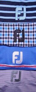 Mens GUC Lot of 4 Blue/Gray FOOT JOY Technical Golf Polo Shirt size M
