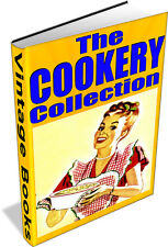 VINTAGE COOKERY BOOKS DVD - recipes,food,housekeeping,housewife,cookbooks