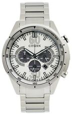 Citizen Eco Drive Chronograph Mens Watch 100M CA4120-50A Metal Band UK Seller
