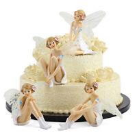 3PCS Flying Flower Fairy Miniature Cute Elegant Cake Garden Car Desktop Ornament