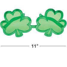 GIANT ST PATRICKS DAY IRISH SHAMROCK GREEN GLASSES Novelty Party Sunglasses 0218