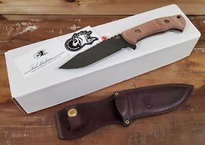 Hinderer Knives The Ranch, Battle Black CPM-3V Harpoon Spanto Blade, Red Micarta