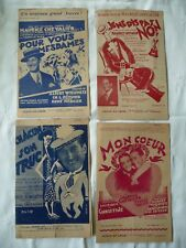 4 partitions Maurice Chevalier année 1926  lot 5