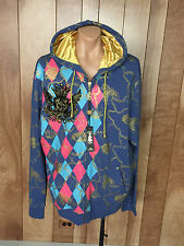 MEN'S CHRISTIAN AUDIGIER ZIP-UP CHAIN & CREST HOODED JACKET-SIZE: 5XL