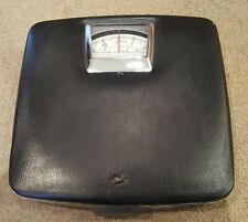 Vintage/Collectable Hanson Black Mechanical Bathroom Scales-Square Leatherette