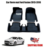 Car Floor Mats Front & Rear Liner Waterproof Mat for Ford Fusion 2013-2016