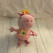 TY Beanie Princess Peppa Pig plush Soft small with wand and crown