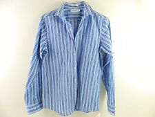 CALVIN KLEIN MEN JUNIOR DRESS SHIRT BLUE STRIPED SIZE 20 STRETCH COTTON SALE D27