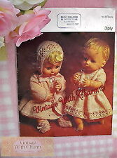 Vintage 60s Knitting Pattern Baby Dolls Dress Coat Bootees & Bonnet. Just 99p