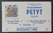 Buvard Quincaillerie PETYT Boulogne-sur-Mer devinette image cachée Pandore 2