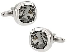 Stylish Black Diamond Cufflinks