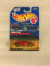 2000 Hot Wheels Ford GT-40 Red 139 w/lace wheels new on card B9