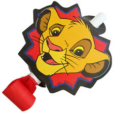 LION KING Simba BLOWOUTS (8) ~ Vintage Birthday Party Supplies Favors Paper Rare