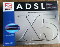 Zoom ADSL Router Model 5654 X5 Modem Gateway Router 4 Port Switch Firewall