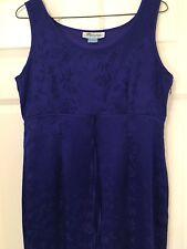 Size 12 Monsoon royal blue silk evening dress