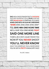 The 1975 - Robbers - Song Lyric Art Poster - A4 Size