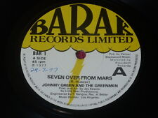 Johnny Green And The Greenmen:  Seven Over From Mars promo  Near Mint  7""
