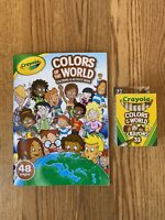 Crayola Colors Of The World Coloring Activity Book w/32 Crayons Multicultural
