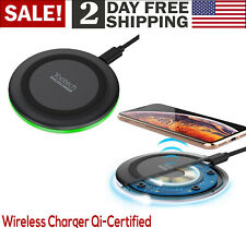 Wireless Charger Qi Enabled Certified iPhone Galaxy 10W Sleep Friendly LED Power