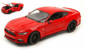 Model Car Scale 1:24 Ford MUSTANG Gt diecast vehicles collection Red