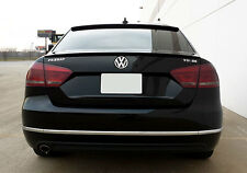 VW Passat B7 Sedan Rear Trunk Spoiler Lip Wing Sport Trim Lid M3 R Line RS Boot