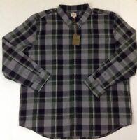 New Filson Sutter Sport Shirt Men Oliver Heather Gray Plaid L-Sleeve Shirt Small