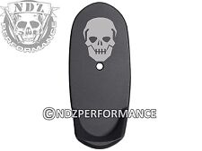 for Smith Wesson SHIELD 9 40 Grip Extension L Mag Plate BK NDZ Skull 10