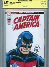 US AGENT Sketch cover art by DON PERLIN CBCS SS ART not CGC Marvel Avengers
